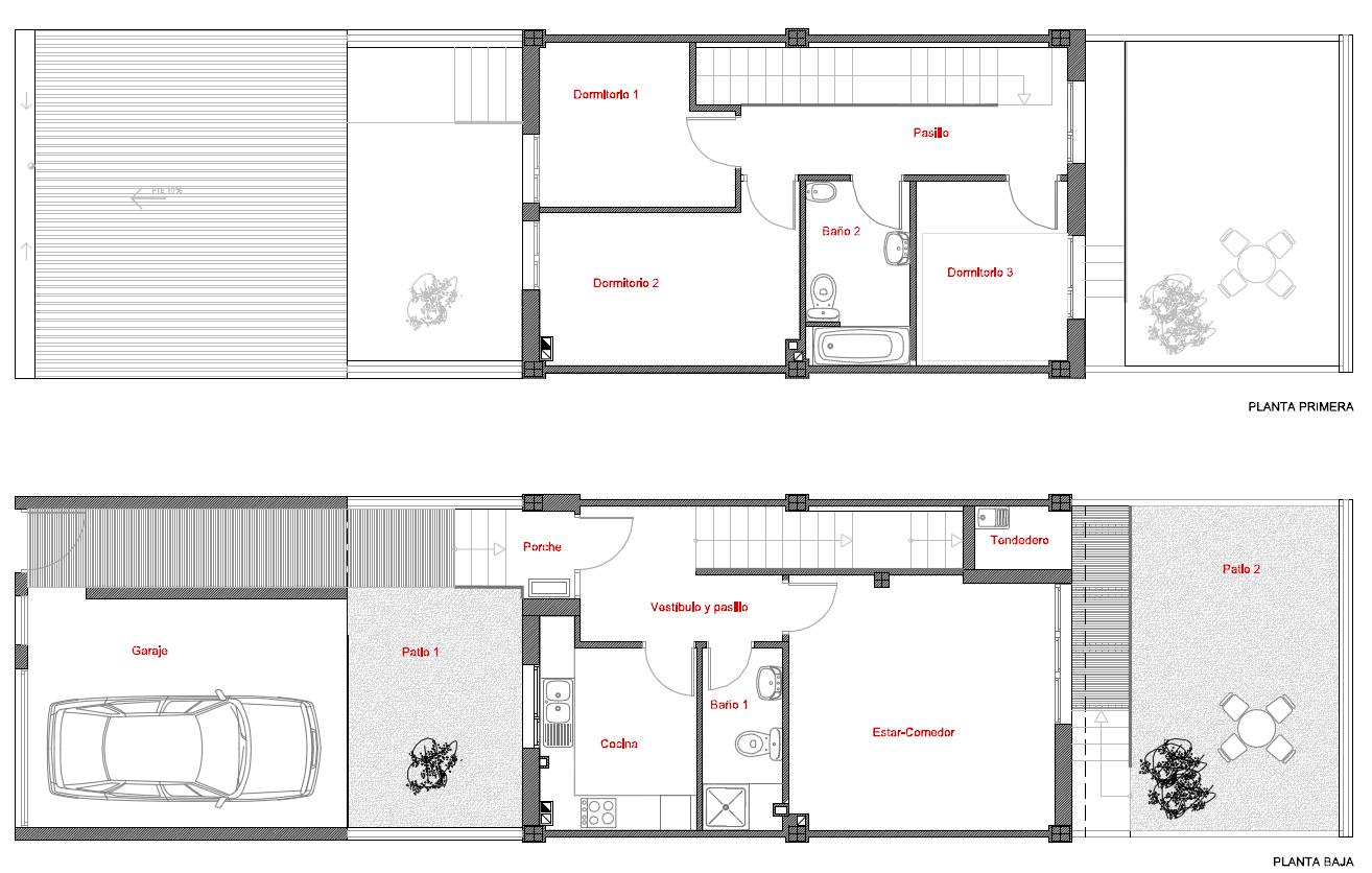 Proyecto de 40 viviendas unifamiliares en miajadas - Casas unifamiliares planos ...
