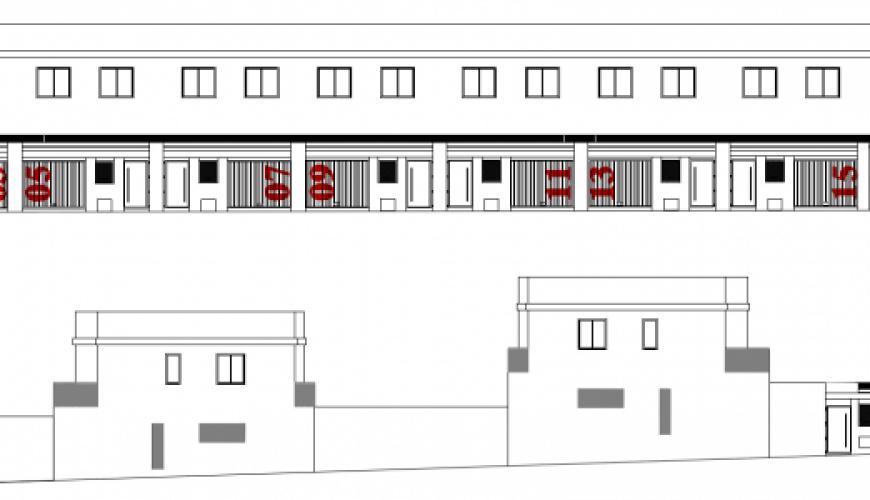 40 viviendas en Miajadas. Alzados.