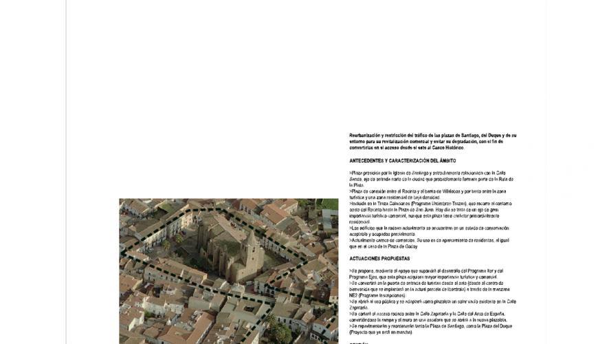 Plan de intervención en el casco histórico de Cáceres.