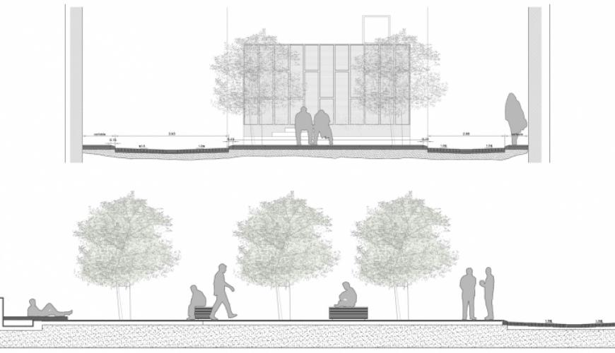 Plaza de la Soledad. Secciones.