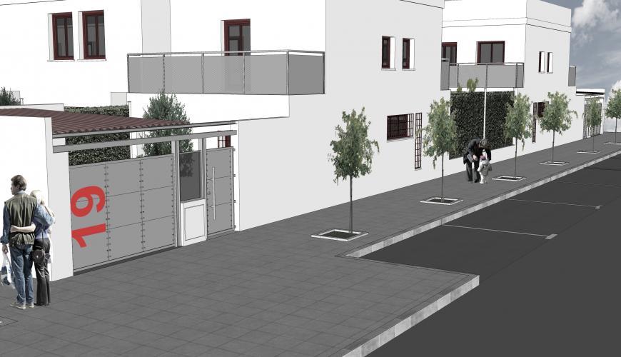 40 viviendas en Miajadas. Infografía de proyecto.